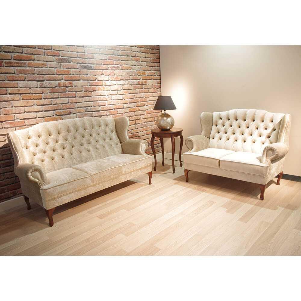 Julietta- pikowana sofa dwuosobowa i trzyosobowa, klasyczna, do salonu, wygodna, drewniana, jasna, skorzana, ciemna, na wymiar, dobrodzien, katowice, gliwice