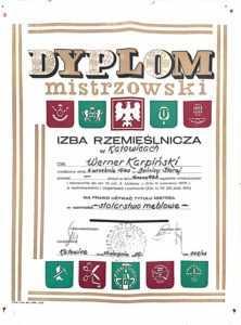 dyplom mistrzowski meble karpinski koza producent mebli stolarstwo rodzinna firma