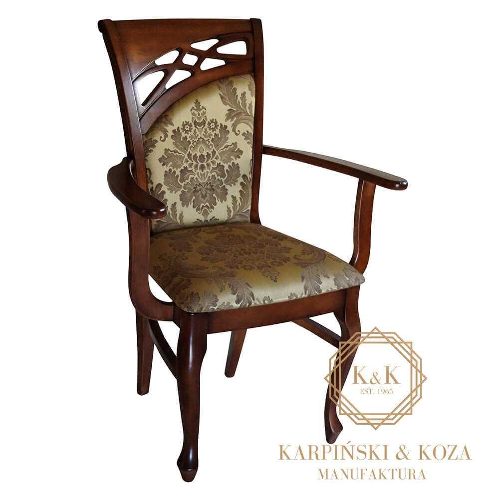 klasyczne krzesło GRODO z podłokietnikami