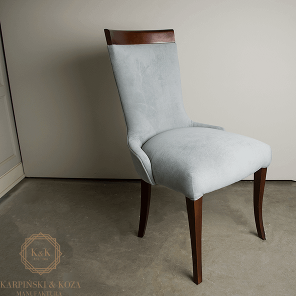 krzesło PEKI glamour szare wygodne