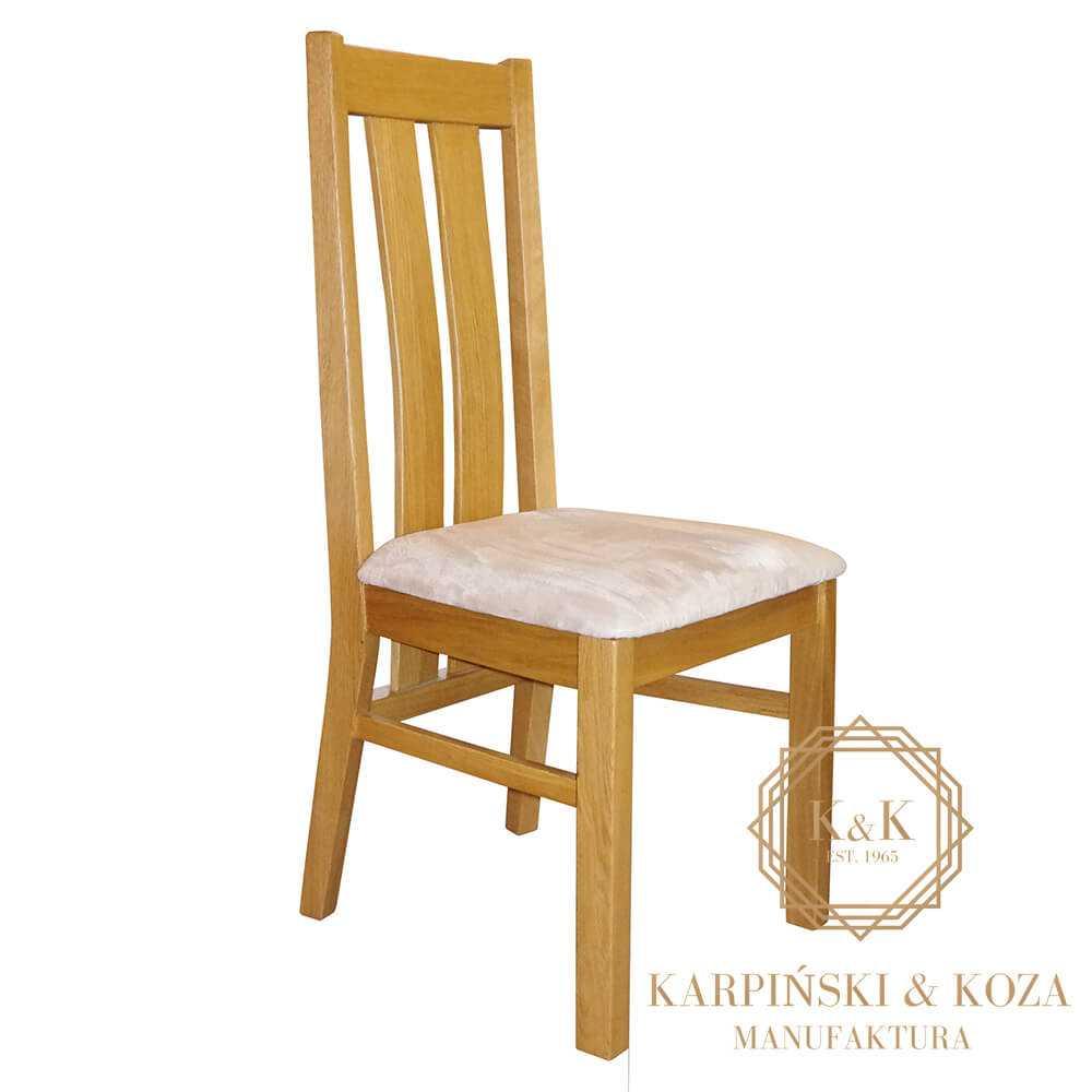 nowoczesne krzesło NOMI z drewnianym oparciem