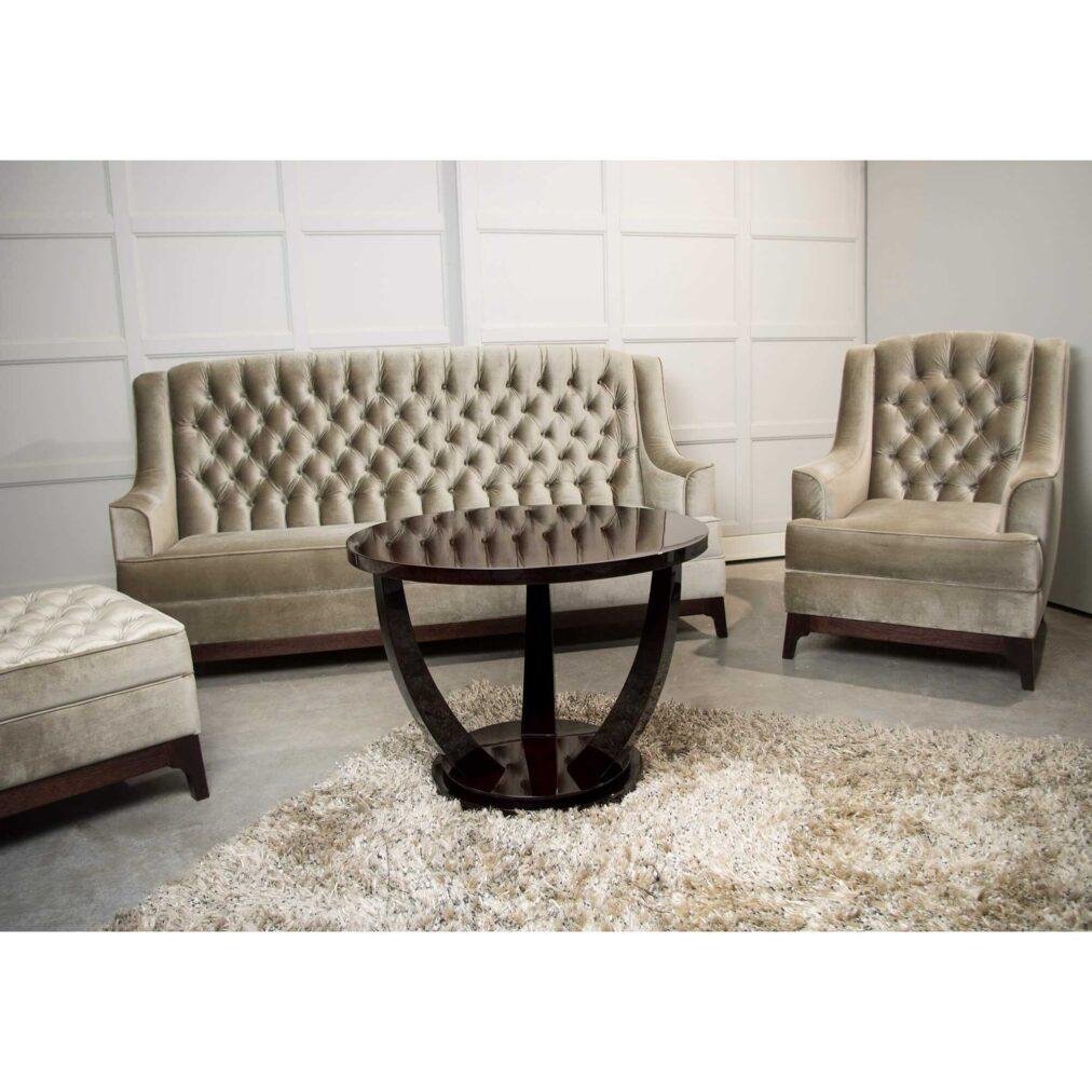 sofa glamour z guzikami pikowana- Levante
