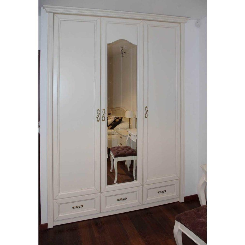 szafa do zabudowy z lustrem Verona, biała, ecri, na wymiar, szafa do wnęki